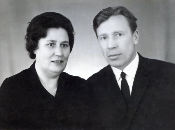 Зинаида Степановна и Алексей Иванович Басковничевы, март 1967 г.